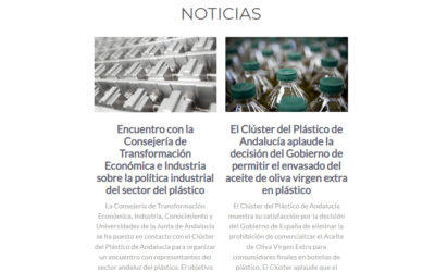 El Clúster del Plástico de Andalucía pone en marcha un Newsletter informativo para las empresas del sector